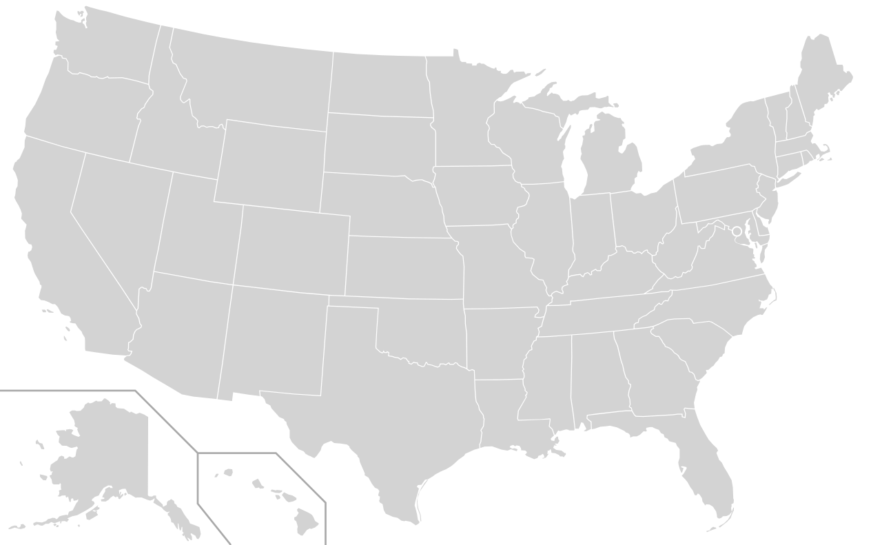 Outline of US map